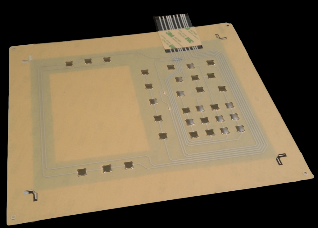 membrane circuit with tactile metal dome switches