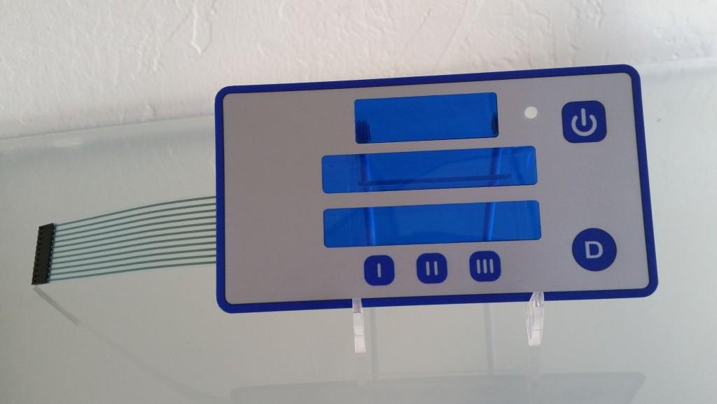 blue tint membrane keyad