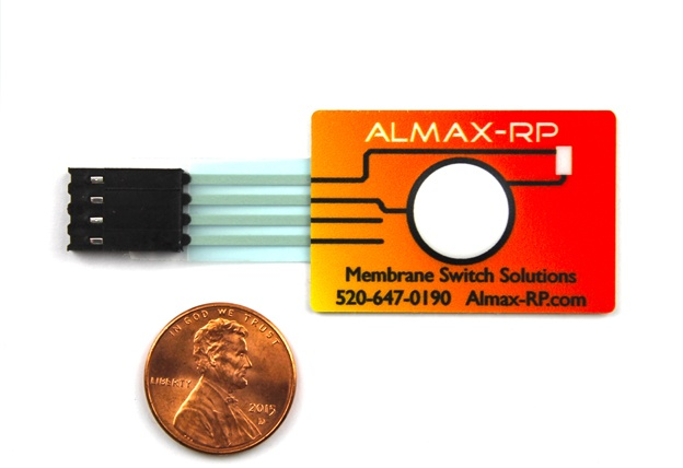 Almax-RP Button Sample with Penny for Scale